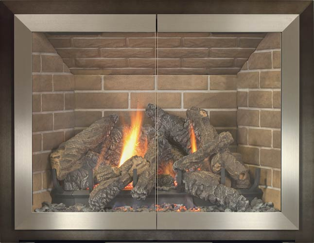 Stoll - Alliance Collection - Tribeca Fireplace Doors - Fireplace .