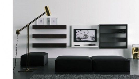 Modern Living Room TV Wall Mount Cabinet Design, Spazio Box by .