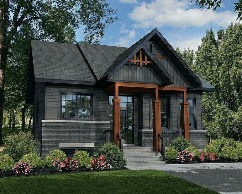 36+ modern rustic homes with black exteriors 00021 | Rustic house .