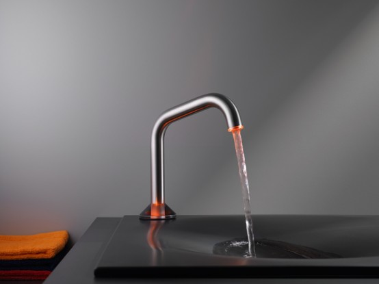 Touch faucet with LED ligh