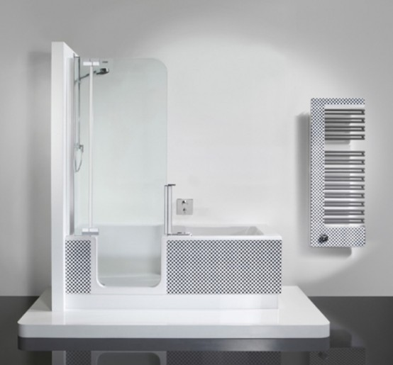 Modern Shower And Tub Unit In One - DigsDi