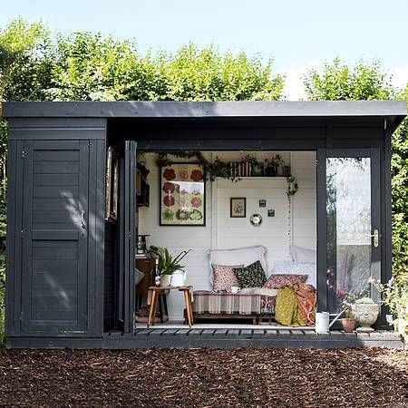 Waltons 12 x 8 Contemporary Summerhouse with Side Shed   Summer .