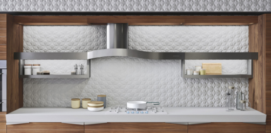 Modern Time Kitchen That Incorporates Linear Aesthetic - DigsDi