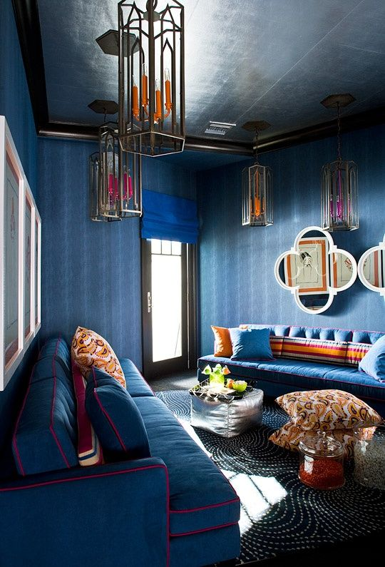 60 Mesmerizing Modern Moroccan Interiors - Loombrand | Blue living .