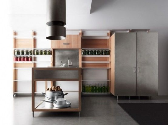 Moveable And Modular Convivio Kitchen System | DigsDigs | Meubels .