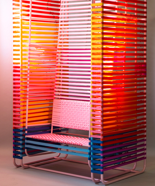 kevin hviid x GANNI's swinging chair is made of 600 multi-colored .