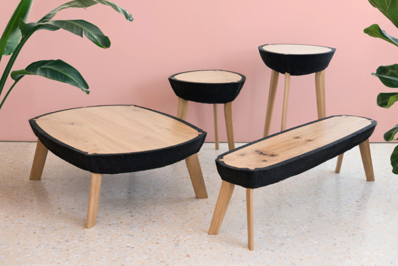 Fikra Tables Collection Of Natural And Manmade Materials - DigsDi