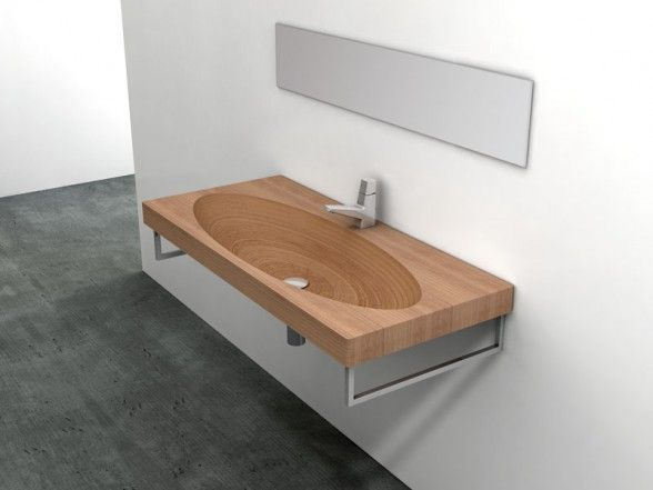 Natural Wood Sink and Washbasins by Plavisdesign   Meble, Łazien