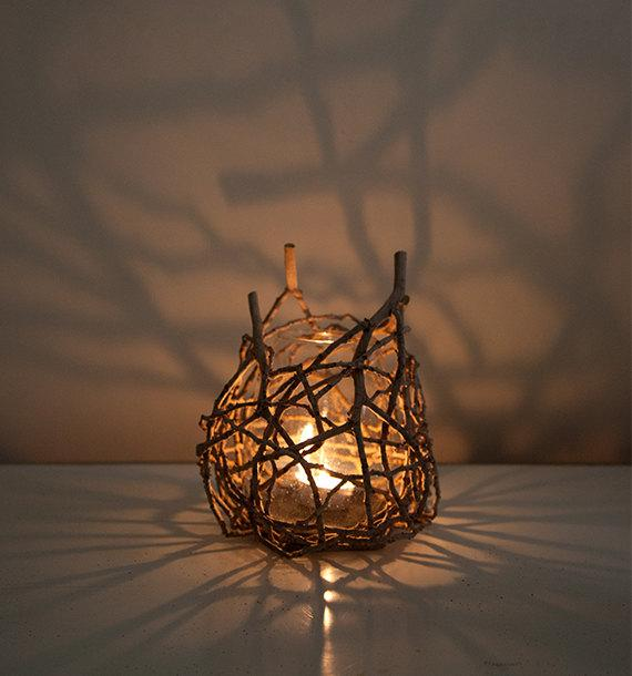 Nature Inspired Organic Shadow Candle Lamp Tealight Candle | Et
