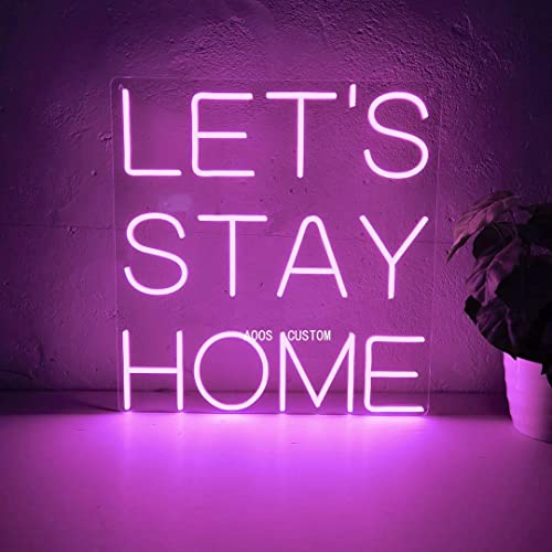 Amazon.com: Let's Stay Home Custom Dimmable LED Neon Signs for .