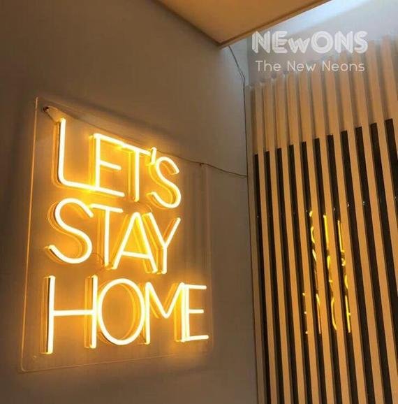 Let's stay home NEON sign NEON light home decor | Et