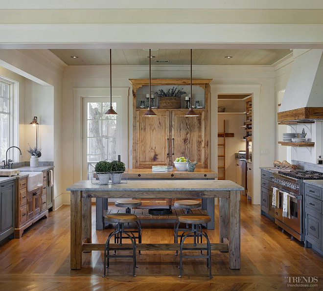 Rustic Cottage with Neutral Interiors - Home Bunch Interior Design .