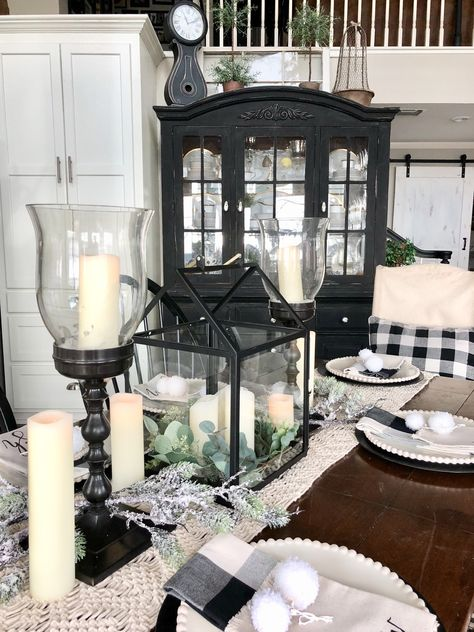 Neutral Winter Home Tour | Farm house living room, Chic dining .