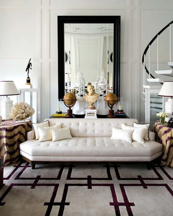 23 Non-Boring White Sofa Ideas For Your Living Room   Pink living .