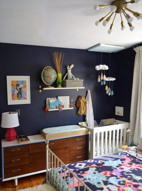 Jesyka's Room for Four — Small Cool | Master bedroom nursery .