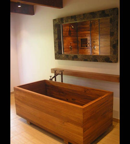 japanese ofuro tub - one of a pair -made from teak | Wooden .