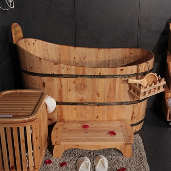 Japanese Simple Style Wooden Ofuro Bathtub For Spa And Adults .