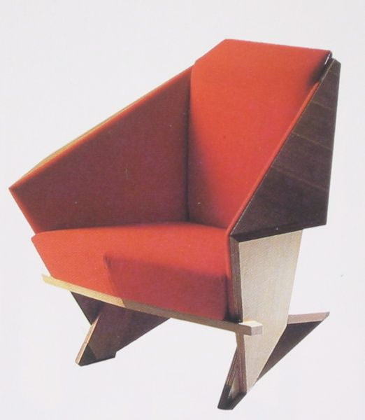 The Frank Lloyd Wright Origami Chair, I got to sit in one at .