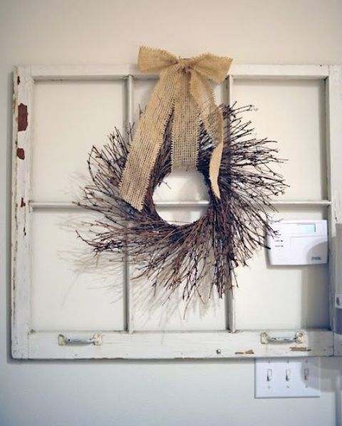 43 Original Fall Twig Wreaths With Various Elements - DigsDi