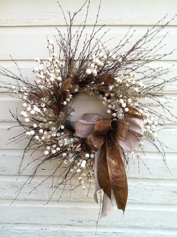 Original Fall Twig Wreaths With Various Elements | Twig wreath .