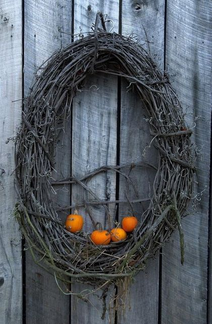 25 Original Fall Twig Wreaths With Various Elements (With images .