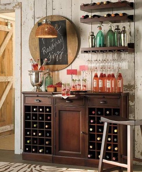 31 Original Home Bars And Cocktail Mixing Stations | Home bar .