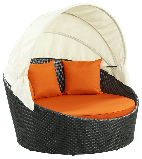 Siesta Canopy Outdoor Daybed - Tropical - Outdoor Chaise Lounges .