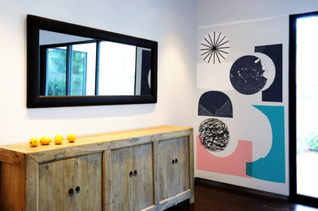 Oversized graphic wall panels to make a declarati