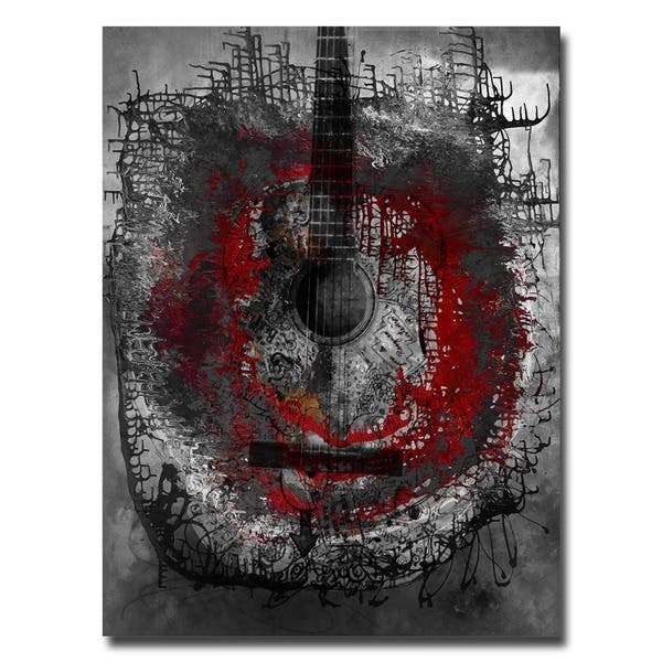 Shop Ready2HangArt 'Acoustic Guitar' Oversized Abstract Canvas .