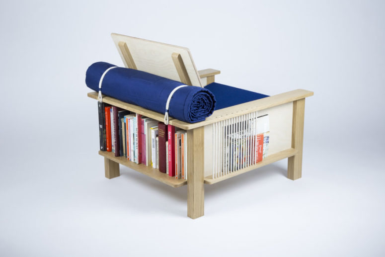 Functional Pack Horse Chair With Storage - DigsDi