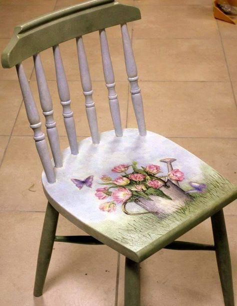 Painting Furniture Chairs 25 Ideas   Painted chair, Decoupage .