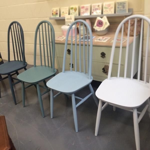 Image result for chalk paint chair   Painted dining chairs .
