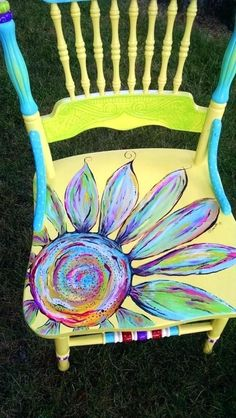 652 Best Fun Painted Chair Ideas images   Painted chair, Painted .
