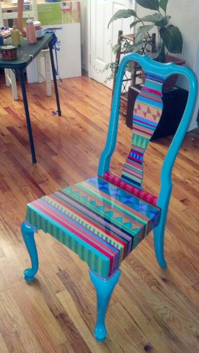 40 Vibrant DIY Painted Chair Design Ide