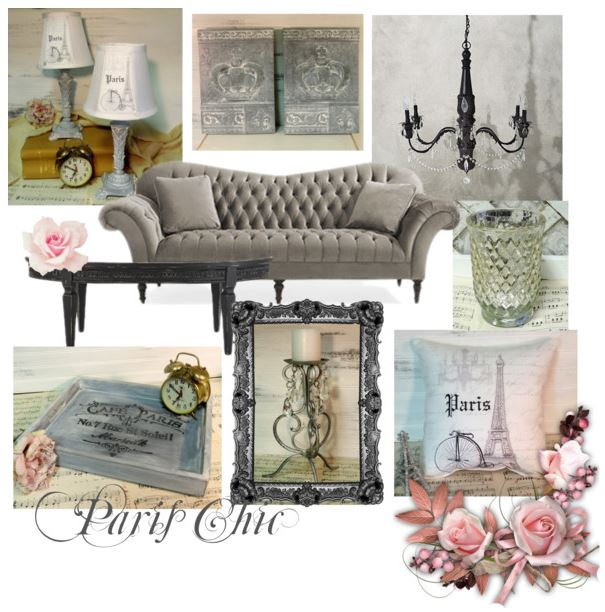 Mood Board Monday: A Grey French Paris Chic Living Ro
