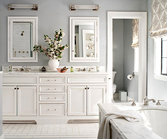 Soothing Bathroom Color Schemes   Better Homes & Garde