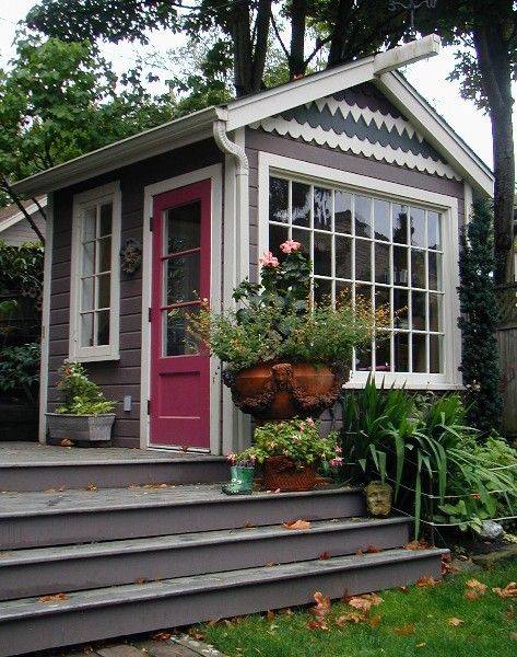 Shedquarters: Your personal office shelter | Cottage garden .