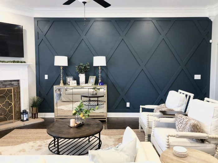 Creating A Diamond Accent Wall - Whimsical Septemb