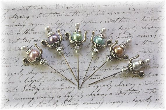 Teapot Stick Pin Light Collection for by LittleScrapShop on Etsy .