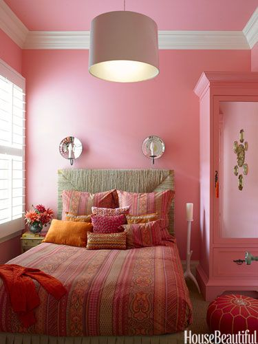24 Lovely Bedroom Colors That'll Make You Wake Up Happier | Pink .