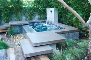Contemporary Home Design: Brilliant Above Ground Plunge Pool Using .