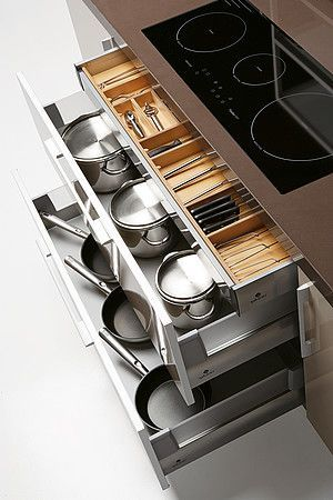 Quatro Gloss - Large Kitchen with Smart Storage Solutions - great .