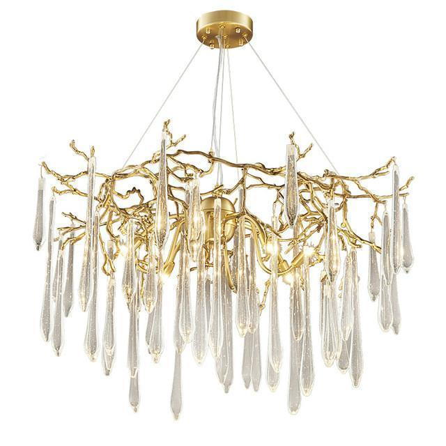 Buy RAIN DROPS Contemporary Modern Gold Chandelier With Crystals .