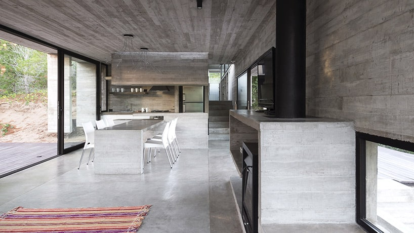 Raw Concrete Home has Everything Inside Built from Concre