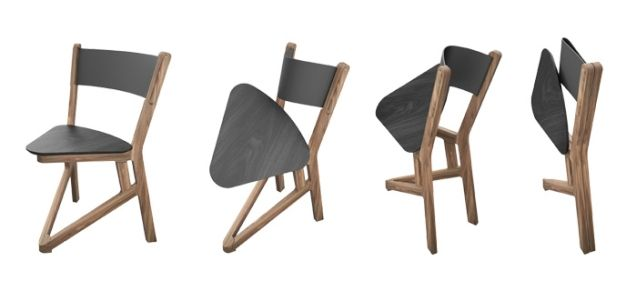 LADU is a solid timber chair that can be folded flat thanks to two .
