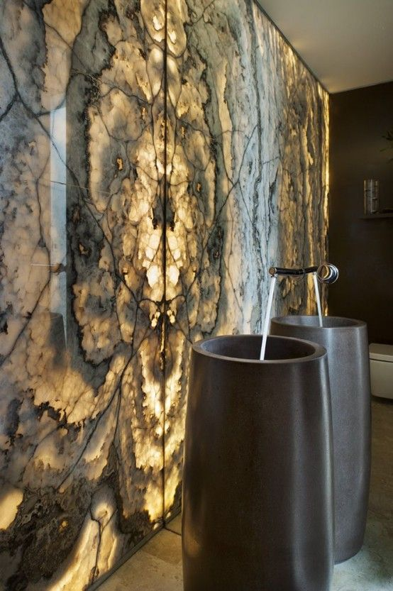 29 Refined Onyx Décor Ideas For Any Interiors - DigsDigs   Stone .