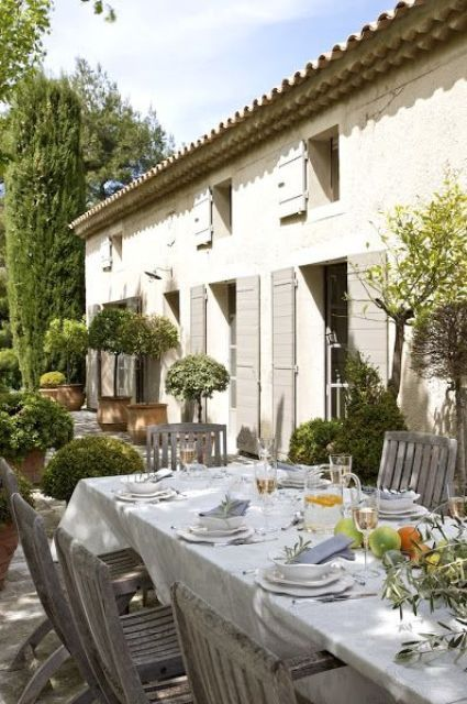 34 Refined Provence-Inspired Terrace Décor Ideas - DigsDigs .