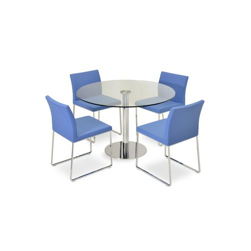 Contemporary dining table - TANGO - sohoConcept - glass / steel .