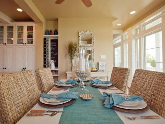26 Relaxing Coastal Dining Rooms And Zones   Coastal dining room .