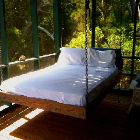39 Relaxing Outdoor Hanging Beds For Your Home   DigsDigs .